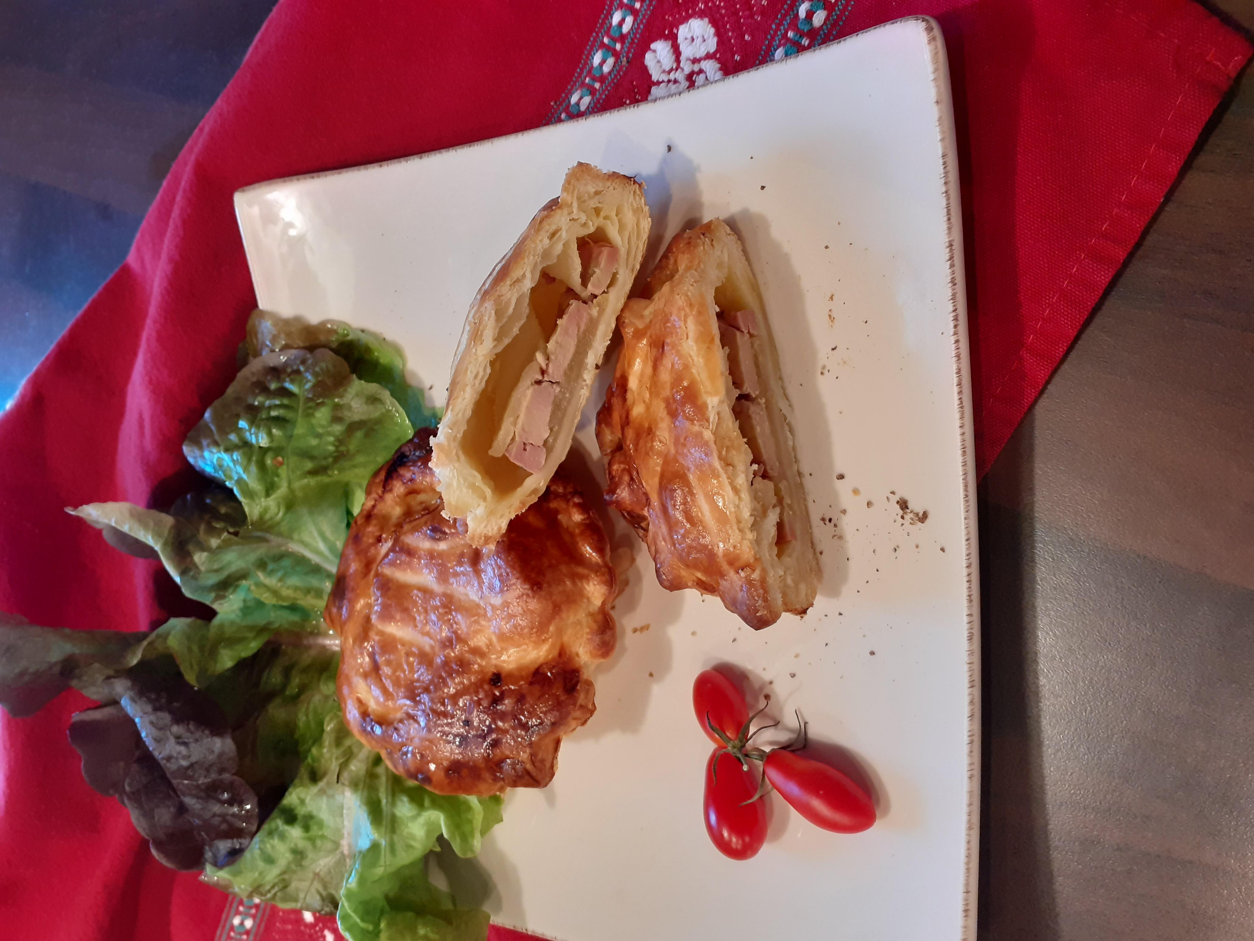 Feuilleté au foie gras et...