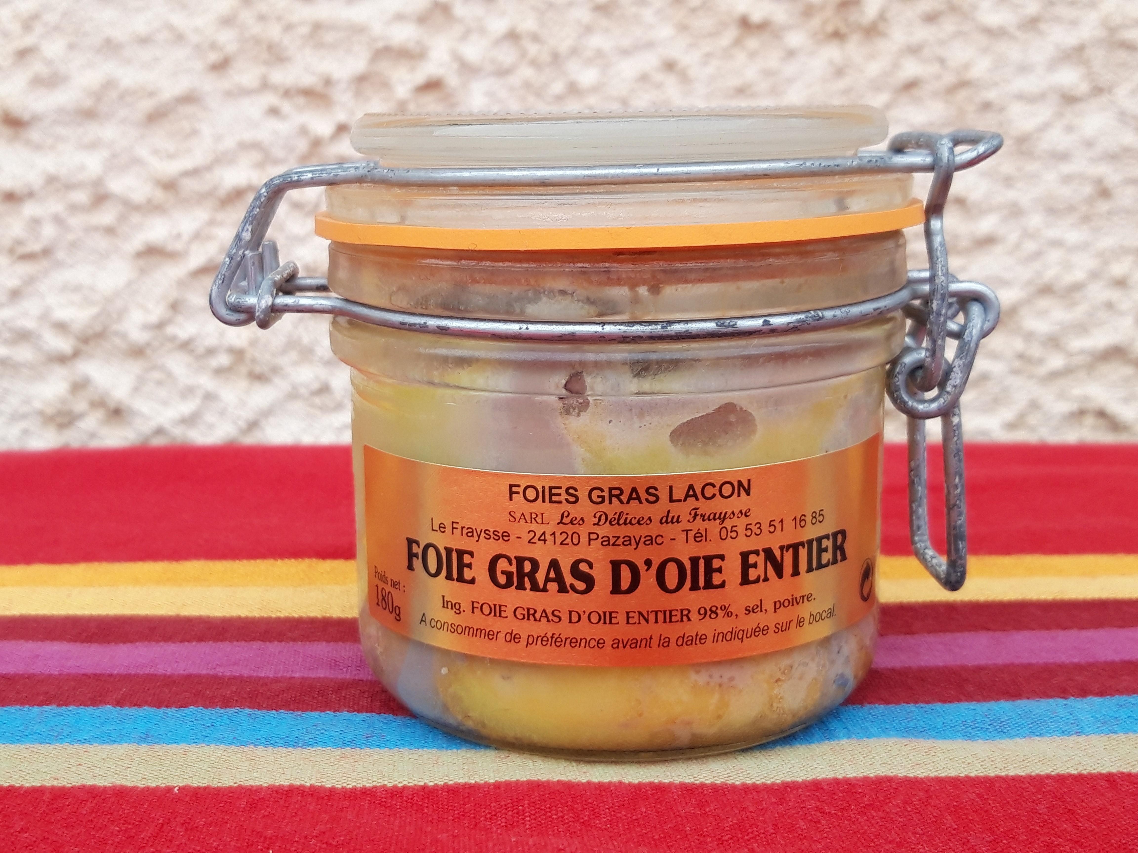 Foie gras d'oie 180g