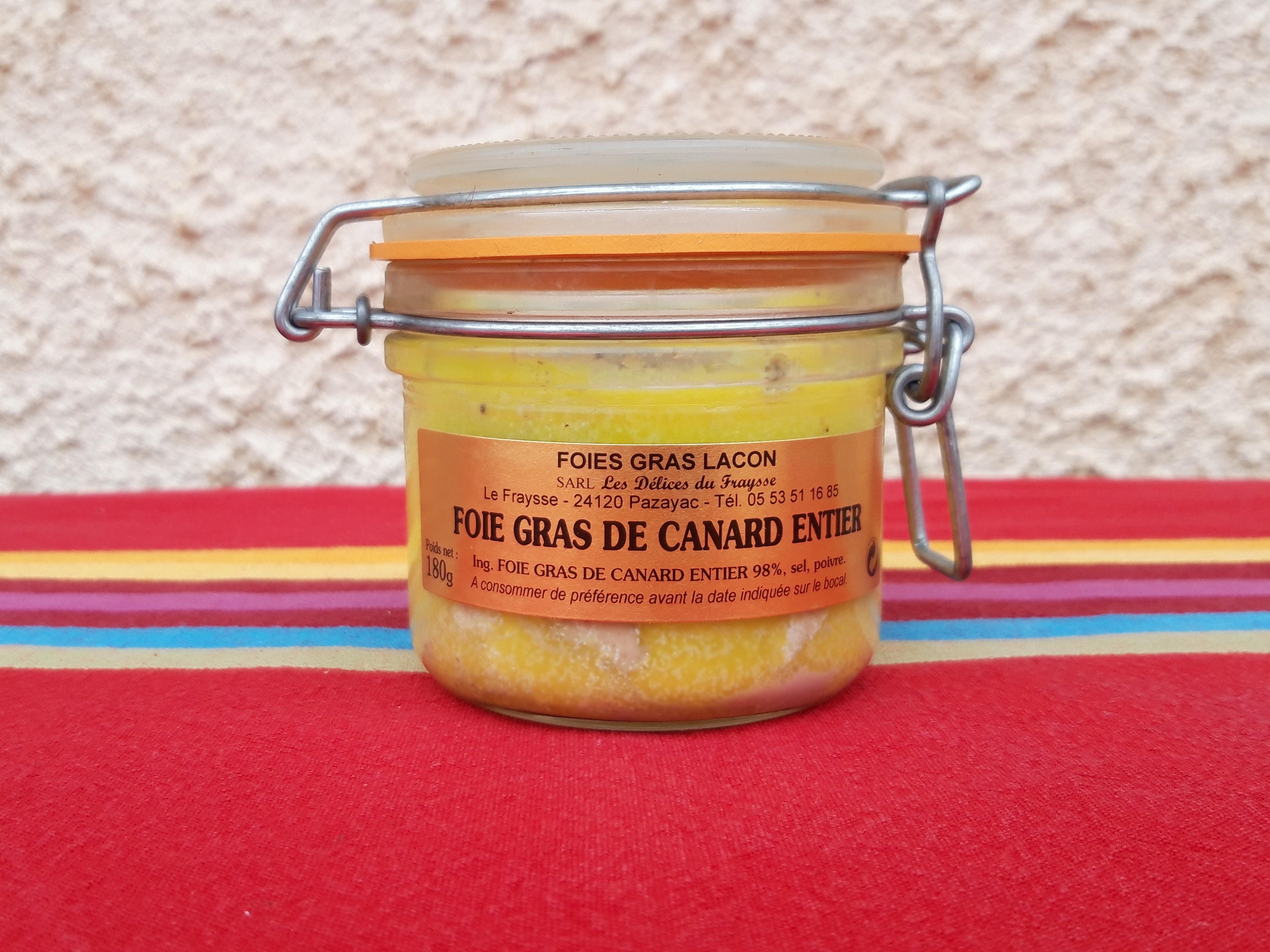 Foie gras entier 180g mi-cuit