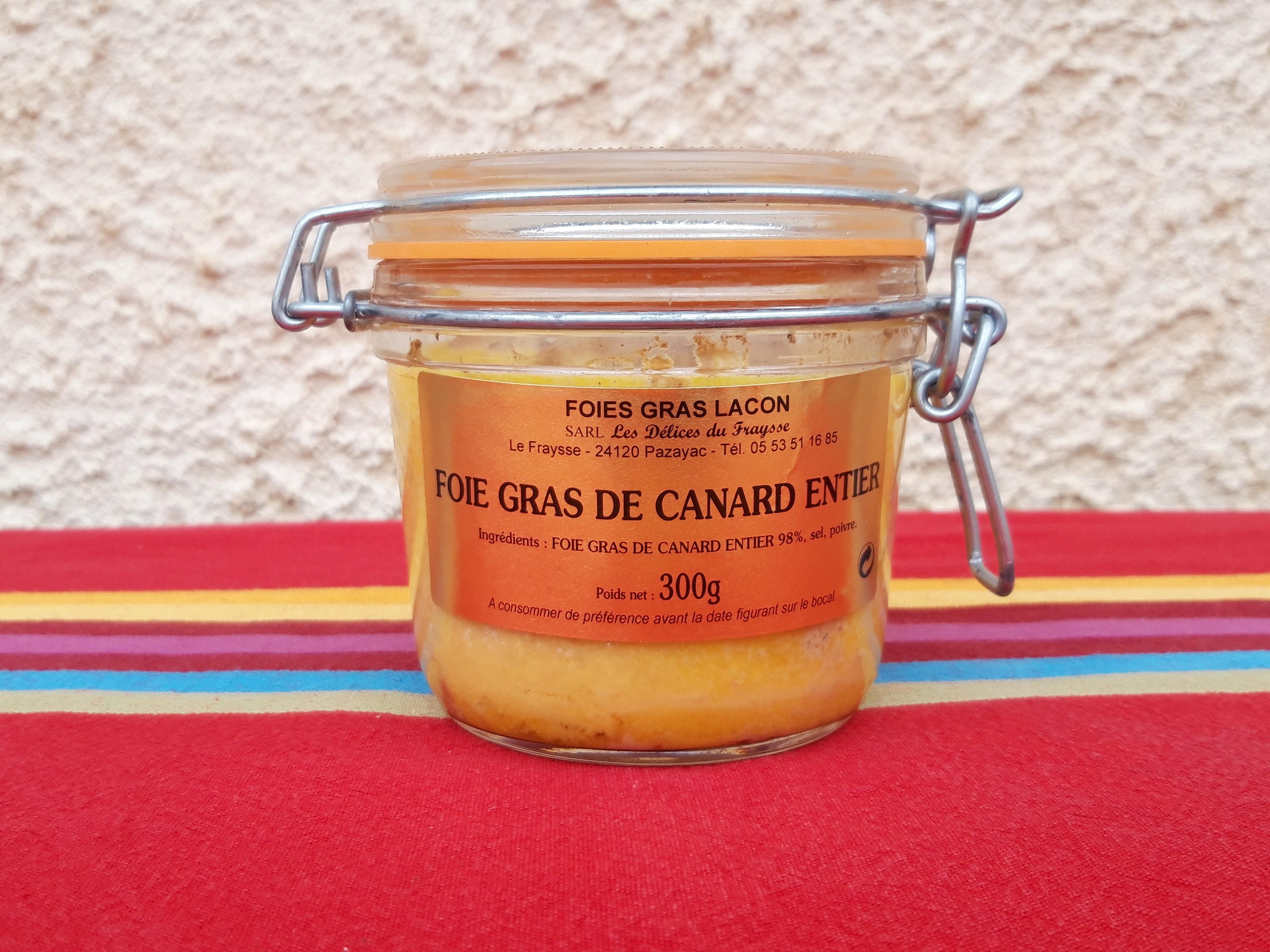 Foie gras entier 300g mi-cuit