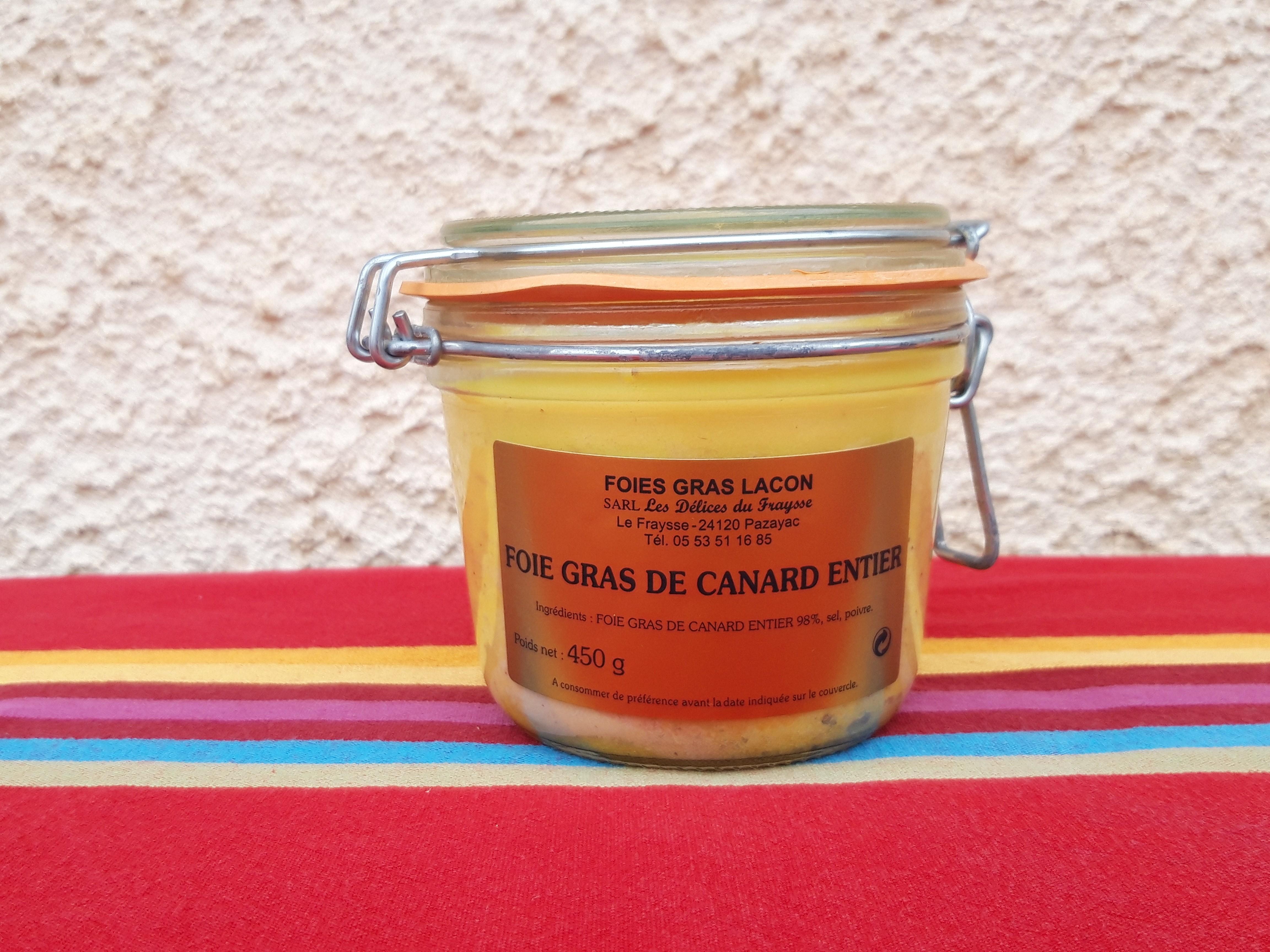 Foie gras entier 450g mi-cuit