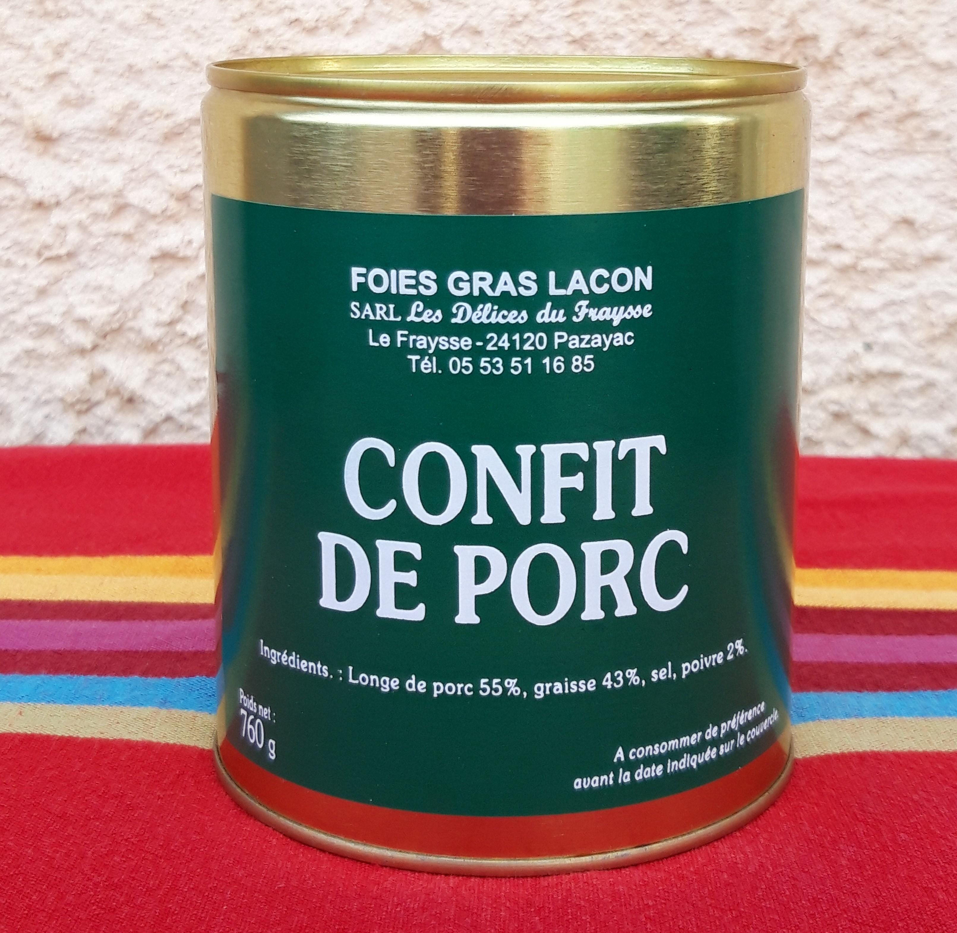Confit de porc (anchaud)